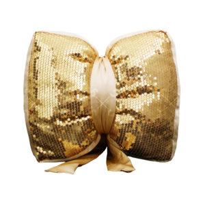 کوسن پاپیونی پولکی طلایی