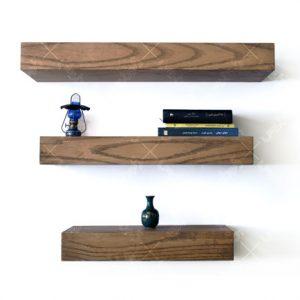 شلف چوبی دیواری پذیرایی