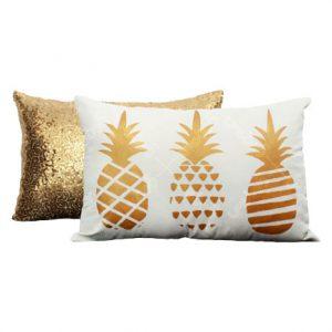 کوسن طلایی رنگ آناناس